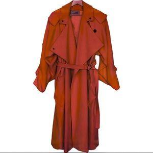 1980's Anne-Marie Beretta Rust Wool Trench Coat